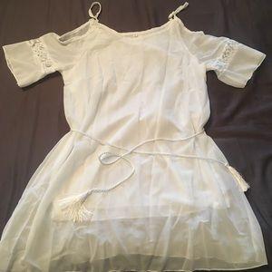 Angelic sheer white top/dress